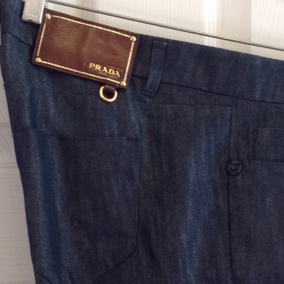 bdf0dfa578 Prada women's silk & cotton blue jeans. Size 29.